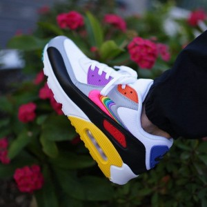 Nike Air Max 90 BETRUE - Białe / Multkolor - CJ5482-100 White Multi Color